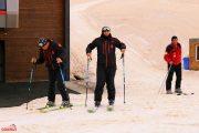 კურორტ გოდერძიზე ვარდისფერი თოვლი მოვიდა