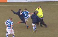 ჰოლანდიაში სტადიონზე ფეხბურთელებმა და გულშემატკივრებმა იჩხუბეს (ვიდეო)