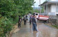 გადაუღებელმა წვიმამ ყვარელში საცხოვრებელი სახლები დატბორა