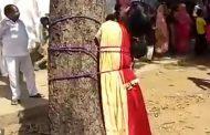 ინდოელი გოგო შეყვარებულთან გაქცევის გამო ხეზე მიაბეს და გაროზგეს